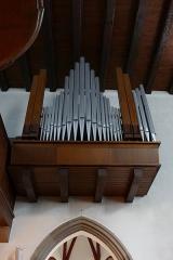 Couvent de Bischenberg (église catholique Notre-Dame) -  Alsace, Bas-Rhin, Bischoffsheim, Couvent de Bischenberg (PA00084622, IA00075456).  Chapelle Notre-Dame-des Sept-Douleurs.  Orgue Schwenkedel (1958): http://decouverte.orgue.free.fr/Orgue du Bischenberg