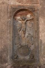 Chapelle avec Mont des Oliviers -  Alsace, Bas-Rhin, Boersch, Dalle funéraire de Paul Keyser (1678)