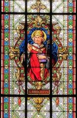 Eglise catholique Saint-Médard - Alsace, Bas-Rhin, Église Saint Médard de Boersch (PA00084630, IA00075462).   Verrière