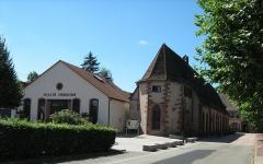 Ancienne chapelle castrale Saint-Georges et halle aux blés - Français:   Salle de l\'orangerie et halle aux blés de bouxwiller(67).