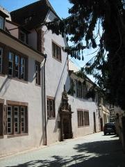 Hôtel de ville - Français:   Vue sur la Chancellerie  (Mairie) de Bouxwiller depuis la rue de la Chancellerie