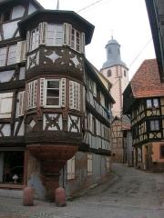 Maison -  Street in Bouxwiller, Alsace.