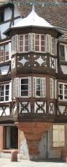 Maison - Français:   vue sur l\'oriel de la maison du receveur ecclésiastique de Bouxwiller (67) France