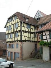 Maison -  Maison de 1595, au n°1 rue du Sable à Bouxwiller (67), France