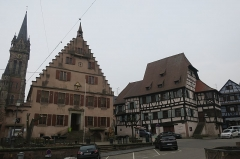Auberge de la Couronne - English: Townhall from the main square at Dambach-la-Ville