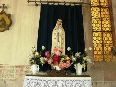 Chapelle Saint-Jean-Baptiste - Statue de la Vierge (XVIIIe siècle) située dans la chapelle Saint Jean - Dambach-la-Ville (Bas-Rhin)