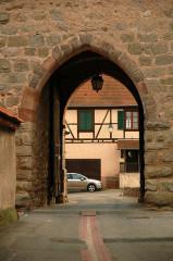 Vestiges des anciennes fortifications -  Dambach-la-Ville, Alsace, France