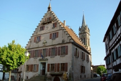 Hôtel de ville - English: Town hall of Dambach-la-Ville, northern facade.