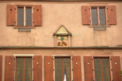 Hôtel de ville -  There is a lot of bear imagery in Dambach-la-Ville, I'm not sure why.  Dambach-la-Ville, Alsace, France