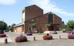 Eglise catholique Saint-Louis - Deutsch: Kirche St. Ludwig in Fort-Louis.