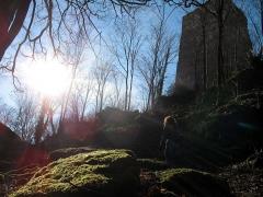 "Ruines du château du Grand-Geroldseck -  ""Grand Geroldseck"" castle (looking SW)"