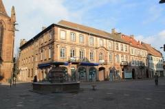 Fontaine -  Haguenau, Ancien hôtel du bailli Hoffmann (XVIIIe), bâtiment antérieur
