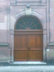 Synagogue - Deutsch: Synagoge Haguenau, Engangsportal