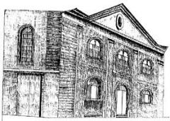 Synagogue -  Die Synagoge von Haguenau, Zeichnung von Elie Scheid