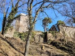Vestiges du château de Landsberg - Français:   Brèche de la muraille ouest du château du Landsberg