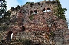 Vestiges du château de Landsberg -  Le Landsberg et son oriel