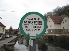Chapelle Sainte-Barbe - English: Pond of the source of the Souffel in Kuttolsheim, Bas-Rhin, Alsace