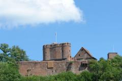 Forteresse - Deutsch: Burg Lichtenberg (Elsass). Blick vom Ort