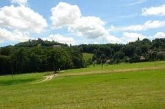 Forteresse - Deutsch: Burg Lichtenberg (Elsass). Blick von Norden