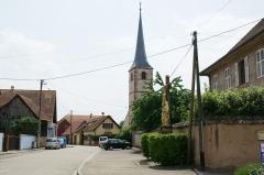 Ancienne église catholique Saint-André, dite chapelle du cimetière - English: Evangelical church in Meistratzheim, Alsace, France