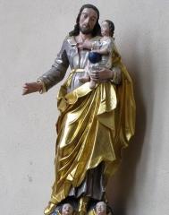 Ancienne église des Jésuites, ou église catholique Saint-Georges - Alsace, Bas-Rhin, Église Saint-Georges de Molsheim, ancienne église des Jésuites (1618) (PA00084798, IA67006097).  Groupe sculpté
