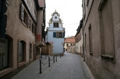 Maison - English: Rue de l'Église in Molsheim, Alsace, France