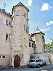 Maison - Français:   Tours de la maison canoniale de Molsheim. Bas-Rhin