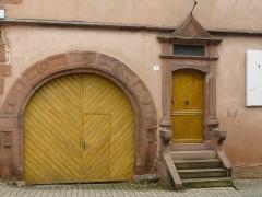Maison - Français:   Maison inscrite monument historique,1 rue du Général-Koenig, Neuwiller-lès-Saverne