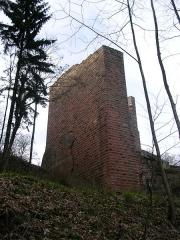 Ruines du château de Wasenbourg -  Mur défencif, Chateau du Wasenbourg, france