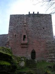 Ruines du château de Wasenbourg -  Entrée du logis seigneurial, Château du Wasenbourg, France