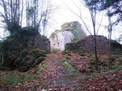 Ruines du château Ringelsboug - English: South entrance of the castle of Grand Ringelstein, Oberhaslach, Bas-Rhin, France