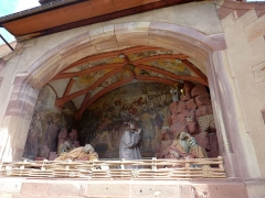 Cimetière - English: Sculpture of Jesus Christ on the Mount of Olives, Saints-Pierre-et-Paul, Obernai