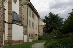 Ancienne synagogue - English: City wall of Obernai, Alsace, France