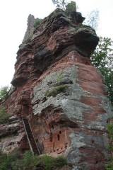 Ruines du château de Lutzelhandt - Deutsch: Burgfelsen