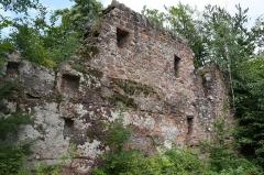 Ruines du château de Lutzelhandt - Deutsch: Gebäuderest der Unterburg