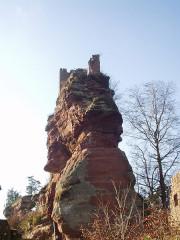 Ruines du château de Lutzelhandt - Deutsch: Felsenburgruine Lützelhardt bei Obersteinbach