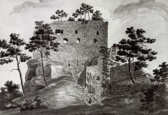 Ruines du château de Birkenfels - French drawer and goldsmith