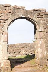 Ruines du château de Birkenfels -  Birkenfels Castle arch