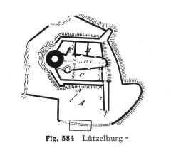 Ruines du château de Lutzelbourg - Deutsch: Lützelburg (Ottrott), Grundriss
