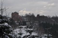 Ruines du château de Rathsamhausen - Français:   Le Rathsamhausen et le Lutzelbourg
