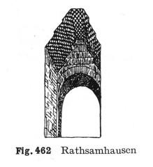 Ruines du château de Rathsamhausen - Deutsch: Burg Rathsamhausen, Fenster des Wohnturmes