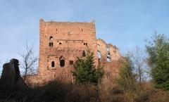 Ruines du château de Rathsamhausen - Français:   Châteaux d\'Ottrott: Rathsamhausen