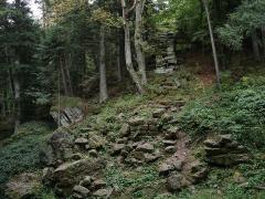 Mur païen -  Mont Sainte-Odile. Le mur païen, section nord.
