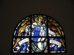 Chapelle Sainte-Marie-du-Chêne ou Notre-Dame-du-Chêne -  Chapelle Notre-Dame-du-Chêne à Plobsheim XIVe siècle. Détail vitrail