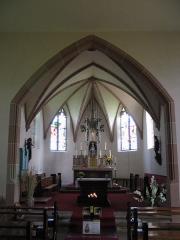 Chapelle Sainte-Marie-du-Chêne ou Notre-Dame-du-Chêne -  Chapelle Notre-Dame-du-Chêne à Plobsheim XIVe siècle. Le choeur