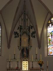 Chapelle Sainte-Marie-du-Chêne ou Notre-Dame-du-Chêne -  Chapelle Notre-Dame-du-Chêne à Plobsheim XIVe siècle. Détail autel