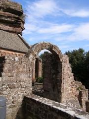 Ruines du château de Hohbarr ou Haut-Barr - Deutsch: Ruine von Château du Haut-Barr (Burg Hohbarr), in der Nähe von Saverne, Elsass