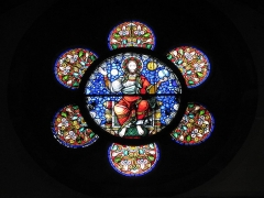 Eglise Sainte-Foy - This object is indexed in the base Palissy, database of the French furniture patrimony of the French ministry of culture,under the referenceIM67008608.