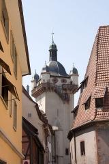 Tour dite Tour Neuve ou Tour de l'Horloge -  Tour de l'horloge, Sélestat, Bas-Rhin (Alsace, France).