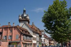 Tour dite Tour Neuve ou Tour de l'Horloge -  Sélestat, Bas-Rhin (Alsace, France).